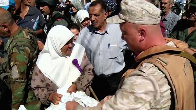 Российская Федерация доставила вСирию неменее 5-ти тонн гумпомощи