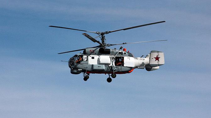 Вертолеты Ка-27 отрабатывают поиск подлодок в Баренцевом море