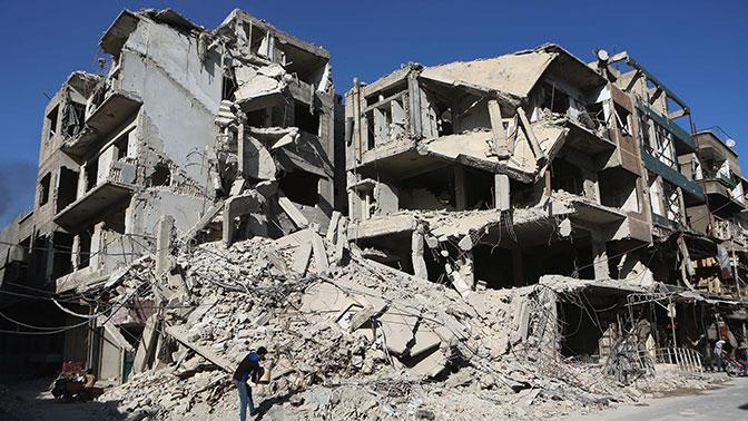 Боевики ведут ракетные и минометные обстрелы жилых кварталов Дамаска
