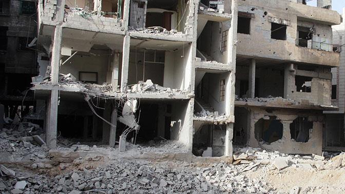 Минобороны сообщило обобстреле боевиками южной части Дамаска