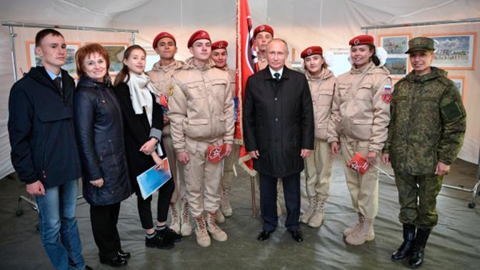 Путин встретился с юнармейцами Забайкалья на учениях «Восток-2018»