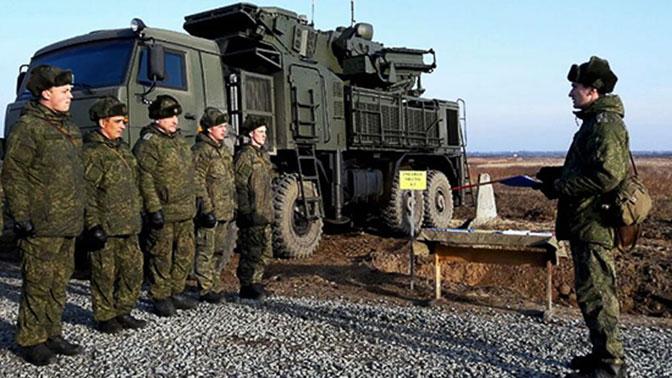 Расчеты «Панцирей» уничтожили беспилотники условных боевиков в небе над Балтикой