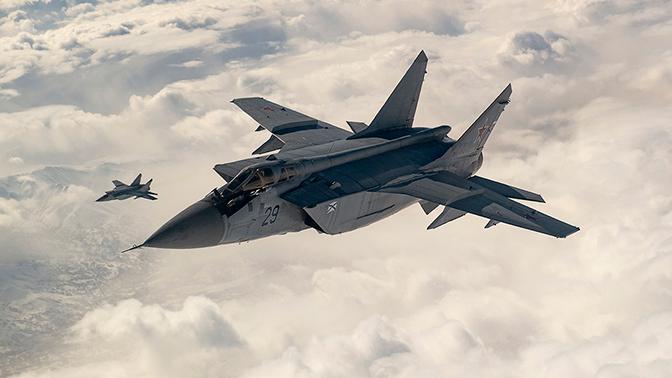 Стражи Арктики: экипажи МиГ-31 уничтожили «противника» над островом Врангеля