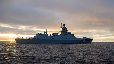Фрегат «Адмирал Горшков» вышел в море для госиспытаний