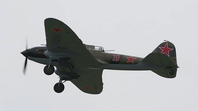 Кадры первого полета отреставрированного самолета Ил-2