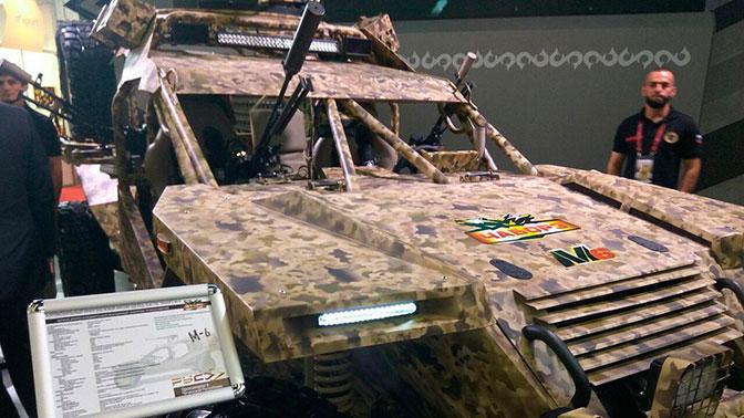 Сайт телеканала «Звезда» впервые публикует фотографии новейшего военного багги «Чаборз М-6»