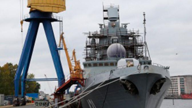 Судостроители запустили двигатели новейшего фрегата РФ «Адмирал флота Касатонов»