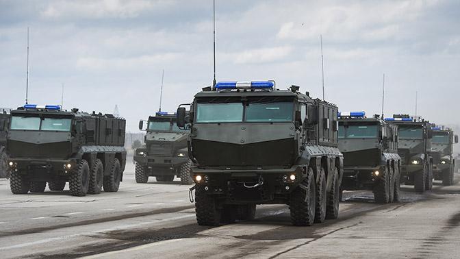 Навооружение ЦВО поступили 16 бронеавтомобилей «Тайфун-К»