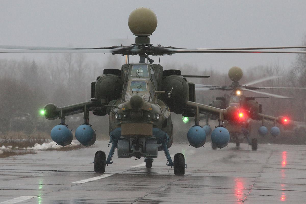 Прибытие Ми-28УБ в Тверскую область
