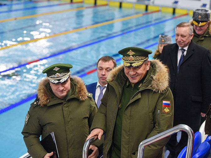 Министр обороны Сергей Шойгу проверил работу военных учебных заведений Петербурга
