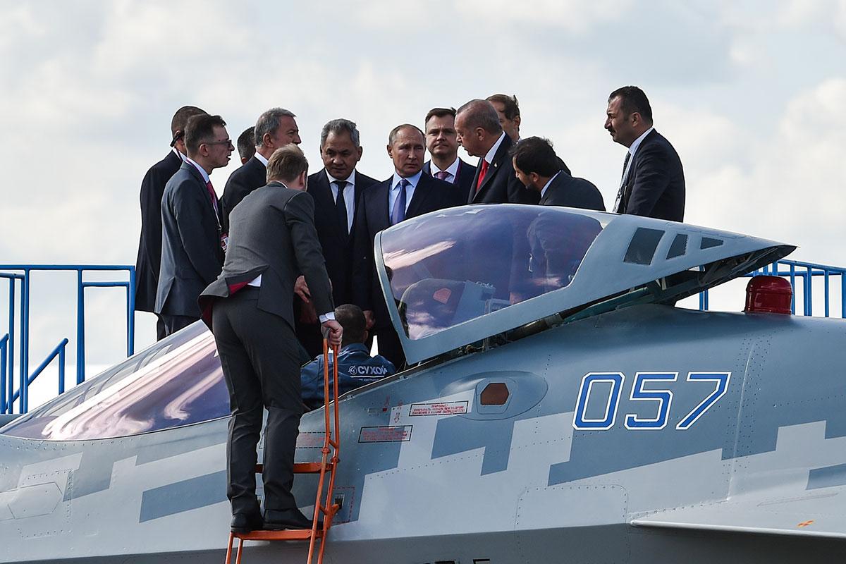 Высшее руководство Турции и России на МАКС-2019