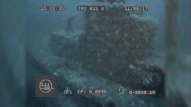 Американская субмарина у берегов Матуа: уникальные подводные кадры