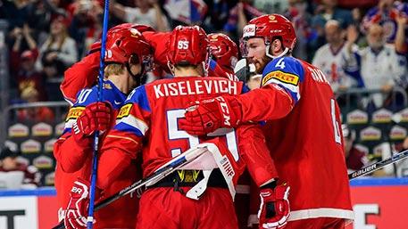 Сборная России сыграет с командой Чехии в 1/4 финала ЧМ по хоккею