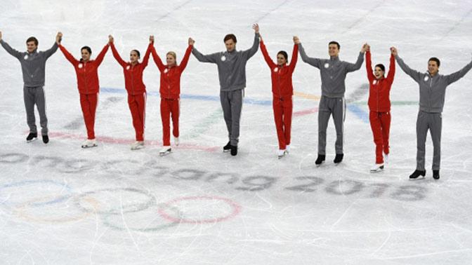 МОК поздравил фигуристов из России с серебром командного турнира Олимпиады