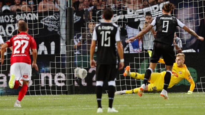 «Спартак», ведя со счетом 2:0, уступил ПАОКу в матче Лиги чемпионов