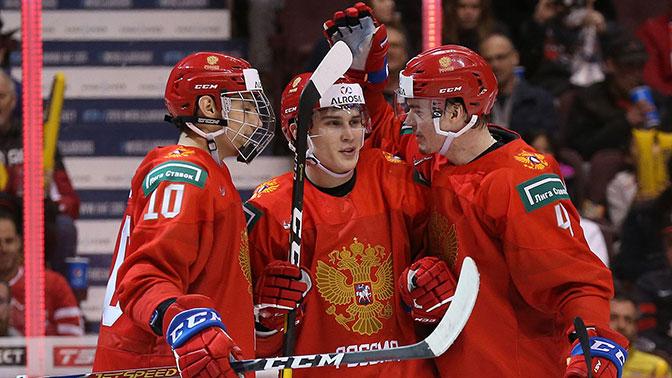 Молодежная сборная России по хоккею разгромила Данию на ЧМ