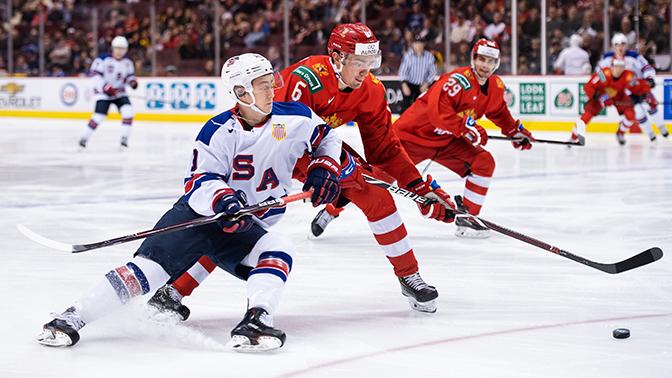 Молодежная сборная России по хоккею уступила команде США