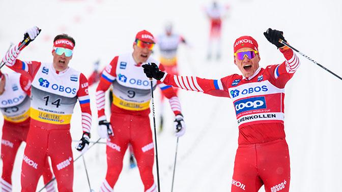 Русские лыжники забрали все медали вгонке наэтапеКМ вОсло