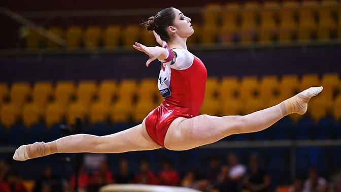 Российские гимнасты завоевали золото в многоборье на Кубке мира