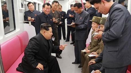 Ким Чен Ын прокатился в корейском метро