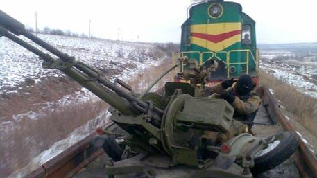 Ополченцы соорудили бронепоезд для защиты от украинских силовиков
