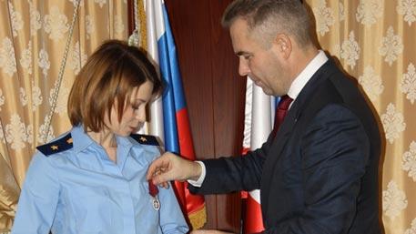 Астахов наградил Поклонскую медалью