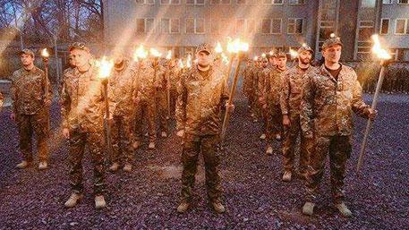 Огненное нацистское шествие прошло на Украине