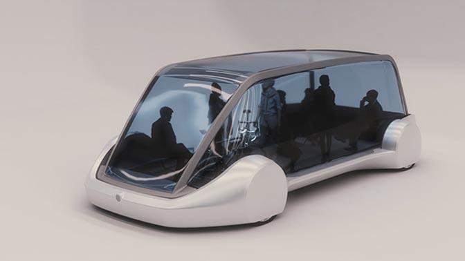 Основатель Space X показал «подземный электрический автобус»