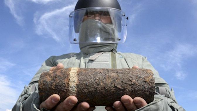 Строители обнаружили бомбу на западе Москвы