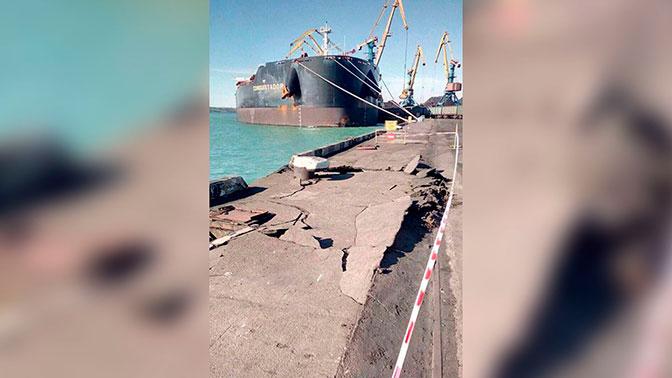 Американский танкер с углем разломал порт под Одессой