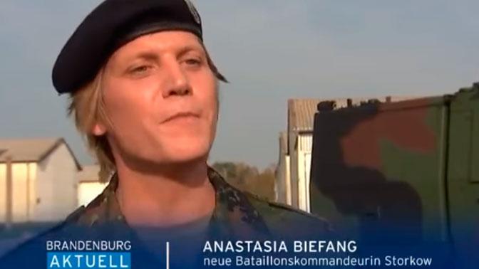 Трансгендер Анастасия возглавила батальон в Германии