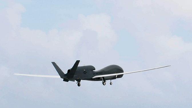 Полёты американского беспилотника над донбасом