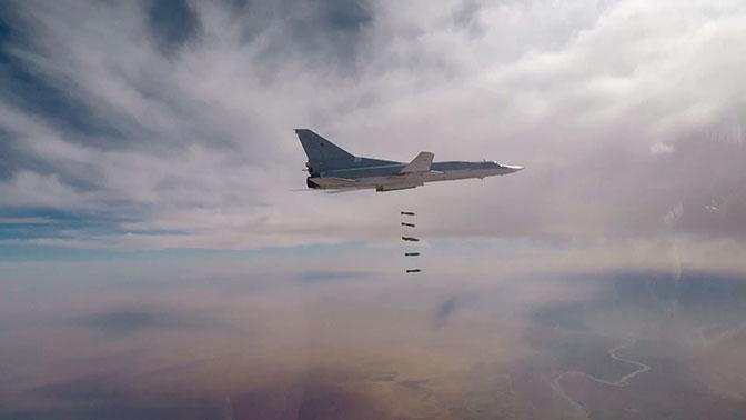 Ту-22М3 нанесли удар по объектам боевиков ИГИЛ*