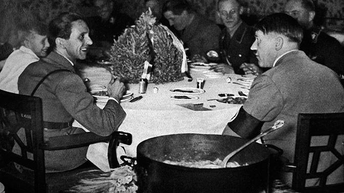 Историки выяснили, что елГитлер насвой последний ужин