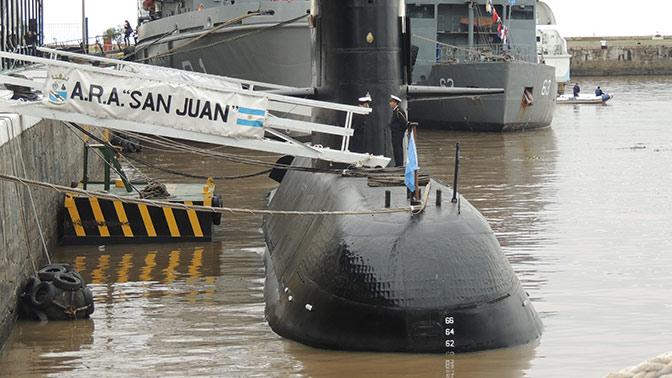 Министр обороны Аргентины публично признал смерть экипажа подлодки «Сан-Хуан»