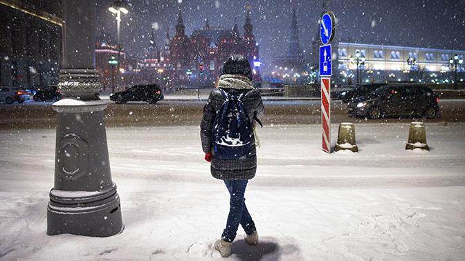В российской столице запервую неделю зимы выпало неменее половины месячной нормы осадков
