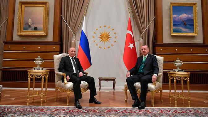 Эрдоган нарусском языке поблагодарил Владимира Путина