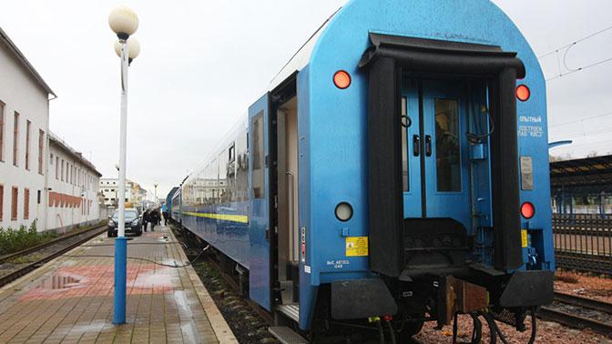 Новый украинский вагон сломался вовремя первого рейса вАвстрии