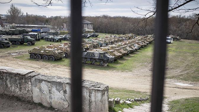 Путин объявил  оготовности Российской Федерации  передать Украине оставленную вКрыму военную технику