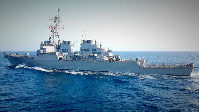 Американский эсминец покинул акваторию Черного моря