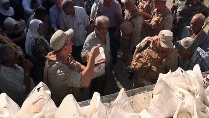 За сутки в населенные пункты Сирии доставлены 4,5 тонны гумпомощи