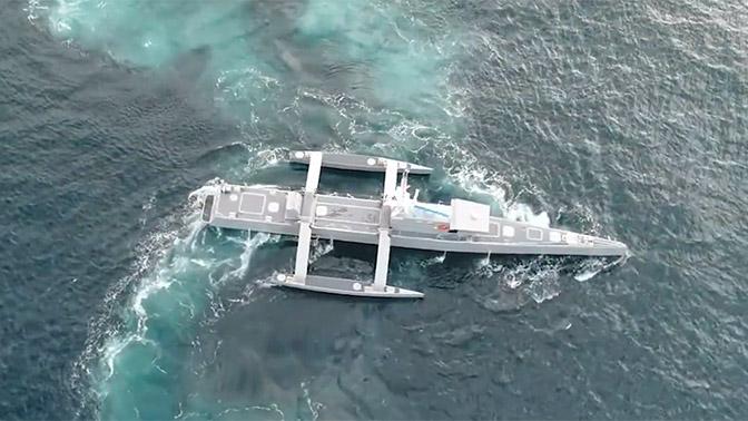 «Охотник заподлодками» вдействии: размещено  видео автономного корабля США