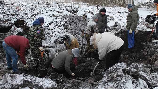 Под Тулой найдено массовое захоронение бойцов Красной Армии