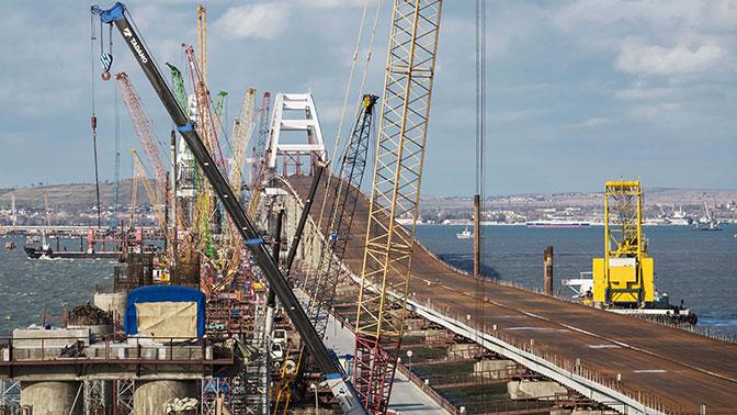 В Крыму опровергли информацию о «несостыковке пролетов» путепровода моста