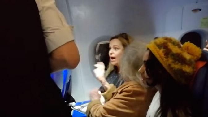 «Жена депутата» устроила дебош на рейсе «Аэрофлота»: видео