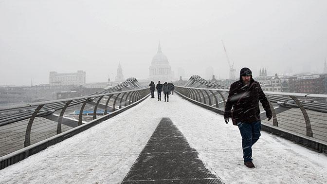 Морозы принесли миллиардный вред Англии