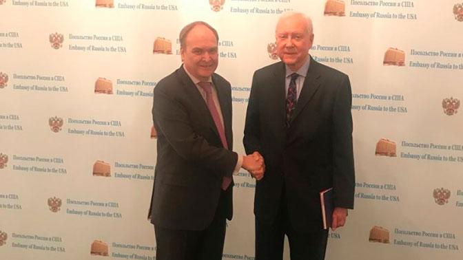 Посол РФ вСША провел встречу содним из управляющих сената