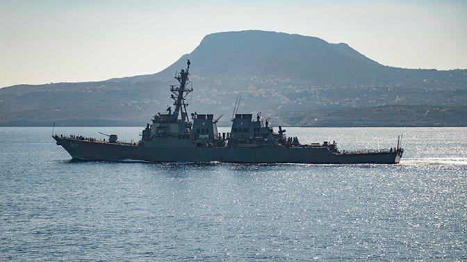 Американский эсминец испытал новую боевую электронику  в Черном море