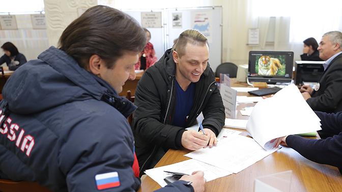 Братья Запашные проголосовали навыборах Президента Российской Федерации вТвери