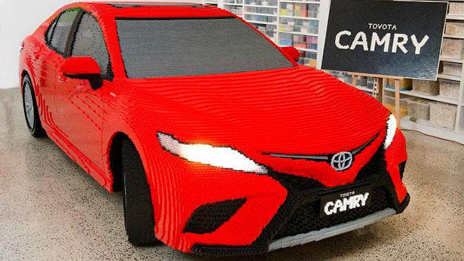 Работники Тоёта собрали автомобиль из500 тыс. кубиков LEGO